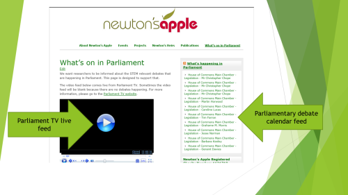 Resource: Keep up to date with Parliamentary debate